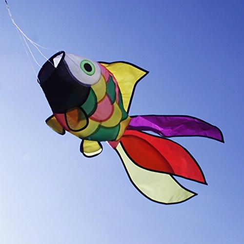 emmakites cute rainbow fish windsock spinner spiral 32. Black Bedroom Furniture Sets. Home Design Ideas