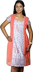 BAJA Women's Regular Fit Dress (PEBLDR, Peach, M)
