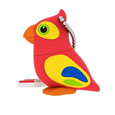 EMTEC Animal Series Jungle 4 GB USB 2.0 Flash Drive, Parrot