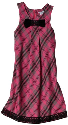 Hartstrings Girls 7-16 Big Plaid Sleeveless Dress