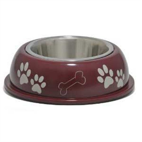 Loving Pets Dolce Dish Dog Bowl, Small, 1 Pint, Merlot