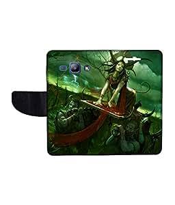 KolorEdge Printed Flip Cover For Samsung Galaxy J1 Multicolor - (1476-45KeMLogo10221SamJ1)