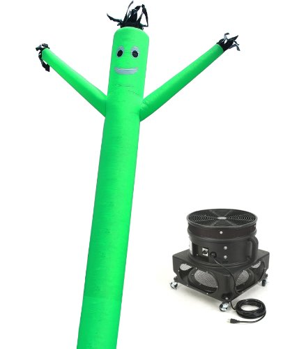 Torero Inflatables Air Dancer Sky Puppet and Blower Set, 20-Feet, Green