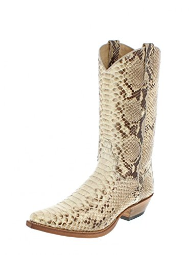 Sendra Boots 2966P, Stivali uomo Bianco bianco, Bianco (Python Natural), 47