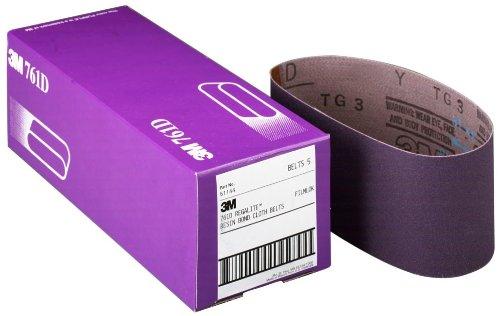 """3M 81412 3"""" x 24"""" 80 Grit Purple Cloth Sanding Belts (761D) - 5 Belts per Package"""