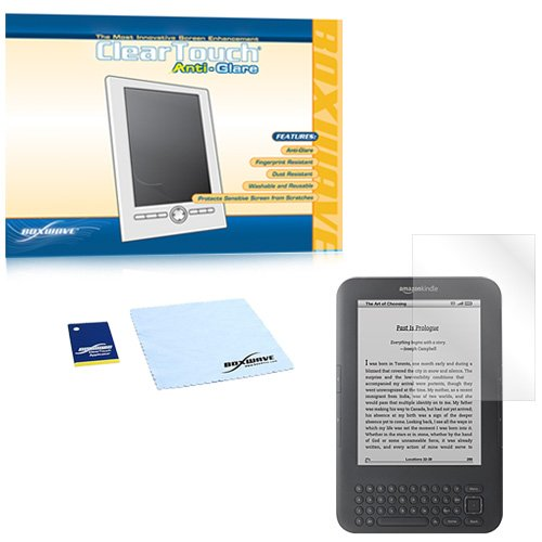 BoxWave Kindle ClearTouch Anti-Glare Screen Protector (Single Pack) - Fits the newest Kindles - Kindle (4th Generation with 5-way Controller), Kindle Touch, Kindle Touch 3G, Kindle Keyboard, Kindle Keyboard 3G, and Kindle 2nd Generation