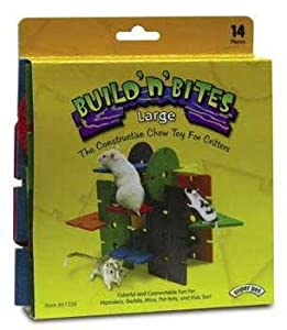 Super Pet Build `N` Bites Wood Chew Toys (14 pack, Large, 11 Inch L x 1 Inch W x 8 1/4 Inch H)