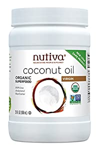 Nutiva Organic Extra Virgin Coconut Oil, 29-Ounce Jars (Pack of 2)