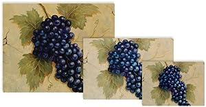 Magic Slice Non-Slip Flexible Gourmet/Bar/Party Size Cutting Boards, Grapes by Naomi Mcbride
