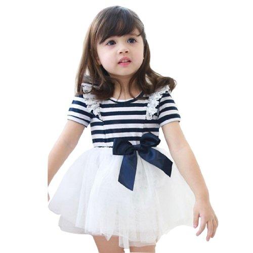 Little Hand Little Girls' Princess Voile Bowknot Dresses front-884828
