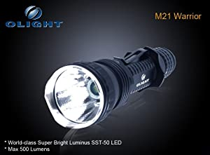 Olight M21 Warrior 500 Lumen Luminus SST-50 LED Flashlight Black