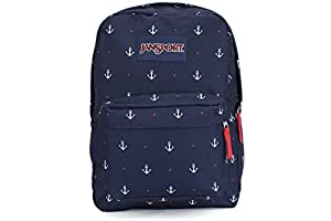 JanSport Mens Classic Mainstream Superbreak Backpack - Red Tape/Land Ahoy