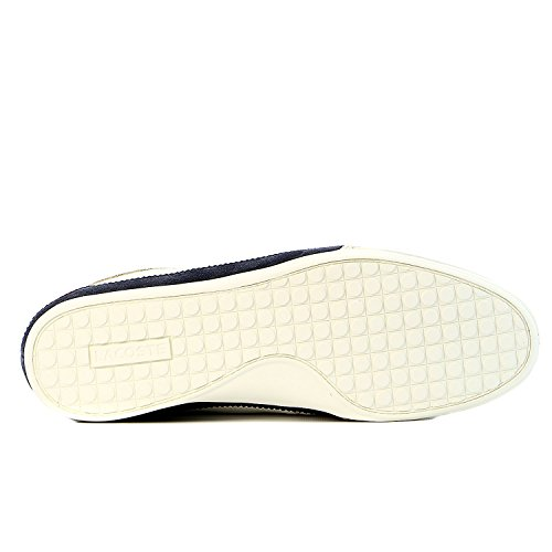 Lacoste Men's Misano 15 Lcr Casual Shoe Fashion Sneaker, Off White/Blue/Red, 10.5 M US