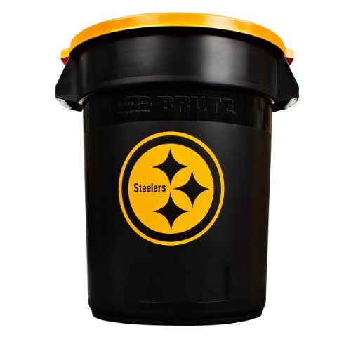 Rubbermaid Commercial Team Brute 32-Gallon Trash Can and Lid, Pittsburgh Steelers at Sears.com