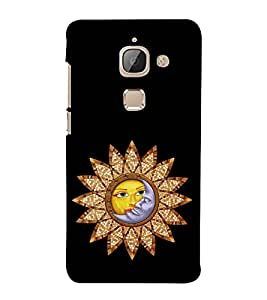Sun and Moon 3D Hard Polycarbonate Designer Back Case Cover for LeEco Le 2s :: Letv 2S :: Letv 2