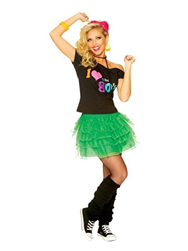 Costume Culture Women's 80's Petticoat Skirt, Green, One Size