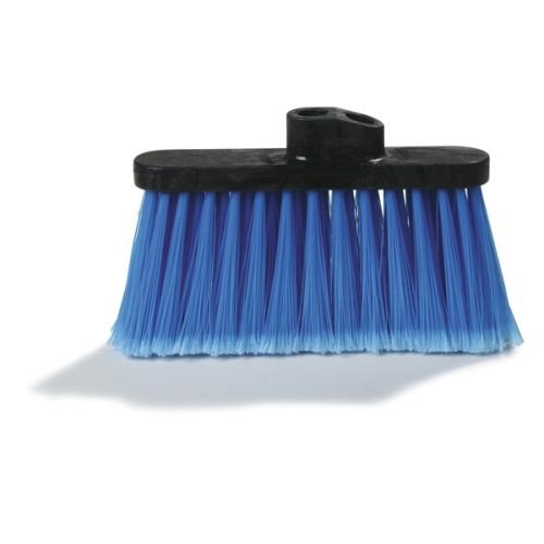 """Carlisle 3685314 Flo-Pac Wide Duo Sweep Flagged Warehouse Broom Head, Polypropylene Bristles, 4"""" Trim X 13"""" Width Bristle, 7"""" Overall Length, Blue front-40007"""