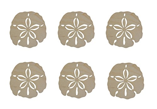 Sand Dollar Shape Unfinished Wood Cut Outs 2.5