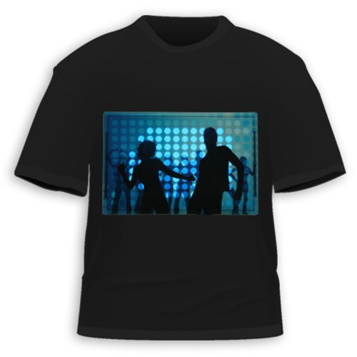HDE Sound Activated LED T-Shirt - 30+ Styles - XL - Dance Club