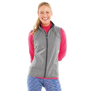 Buy Moving Comfort Sprint Wind Vest Ebony Crosshatch Size M by Moving Comfort