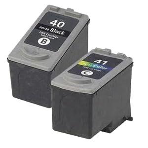 1 x Set ( 1 x Black 1 x Colour ) Professionally Maximum rellenared tinta reemplazo For CANON Pixma mp140 impresora, PG 40 CL 41 tinta CANON MultiPass 450, MP150, MP160, MP170, CANON Pixma iP1200, iP1300, iP1600, iP1700, iP1800, iP1900, iP2200, iP2400, iP2500, iP2600, ip6210d, ip6220d, MP140, MP150, MP160, MP170, MP180, MP190, MP210, MP220, MP450, MP450X, MP460, MP470, MX300, MX310, CANON Pixma Fax jx200, jx210p, jx500, jx510p impresora,  Oficina y papelería Comentarios de clientes y más información