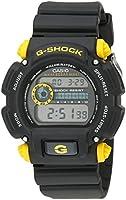 Casio Men's DW-9052-1C9CR G-Shock Black Watch with Yellow Pushers