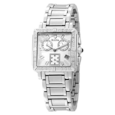 Bulova Women's 96R000 Diamond Accented Chronograph Watch by Bulova
