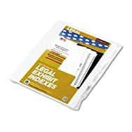 90000 Series Legal Exhibit Index Dividers, 1/25 Tab, Printed
