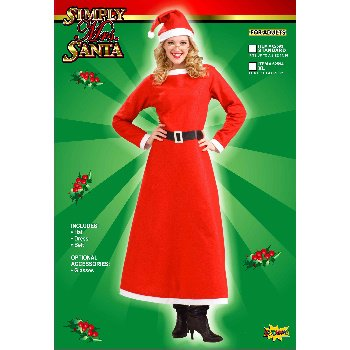 Simply Mrs. Santa Claus Adult Costume Size Plus