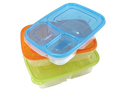 Perfect Life Ideas Bento Box Lunch Box 3 Pcs Set Food Safe BPA Free Multi Compartment Easy Open Lid