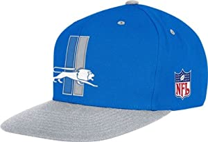 Mitchell & Ness Detroit Lions Throwbacks Wool 2 Tone Snapback Hat One Size Fits... by Mitchell & Ness