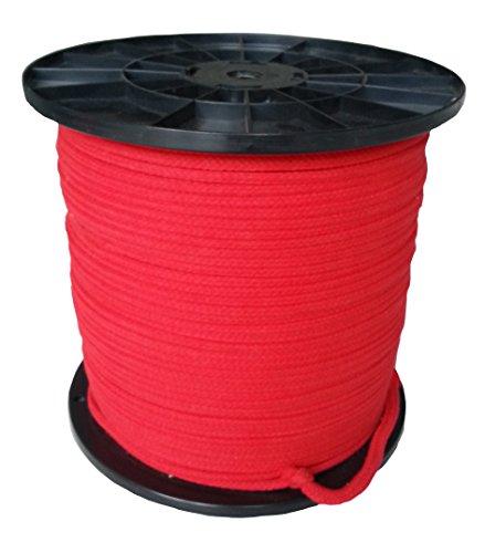 Bondage Seil Fesseln 8mm Baumwolle in rot ab 1 Meter