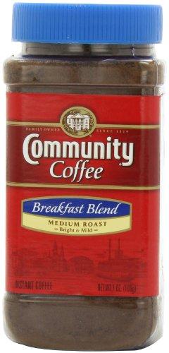 Community Coffee Breakfast Blend Instant Coffee, 7-Ounce Jars (Pack Of 4)