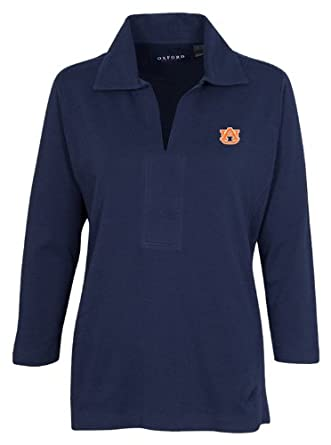 NCAA Auburn Tigers Women's Carson V-Neck Sweater, Sunkissed, Extra Large