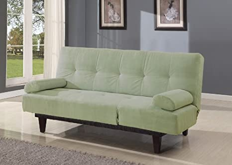 Acme 05855W-SA Cybil Adjustable Sofa Set with Two Pillows, Sage