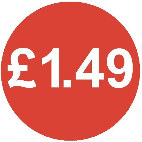 Audioprint Lot Petit 13mm £ 1,49Prix Autocollants-1000Pack