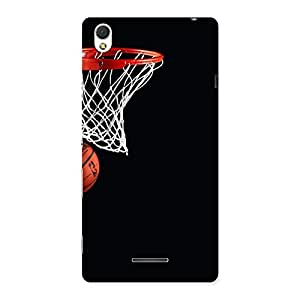 Stylish Basket Ball Multicolor Back Case Cover for Sony Xperia T3