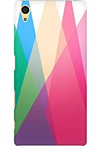 AMEZ designer printed 3d premium high quality back case cover for Sony Xperia Z5 (geometric triangl es)