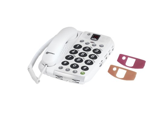 Geemarc CL210A Loud Corded Telephone with Answering Machine- UK Version image