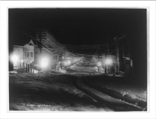 A winter night in Cordova / H.A. Ives.