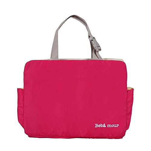 Bebamour Lightweight Backseat Organizer Diaper Tote Bag with Car Hanging on Clearance (Rose Red)