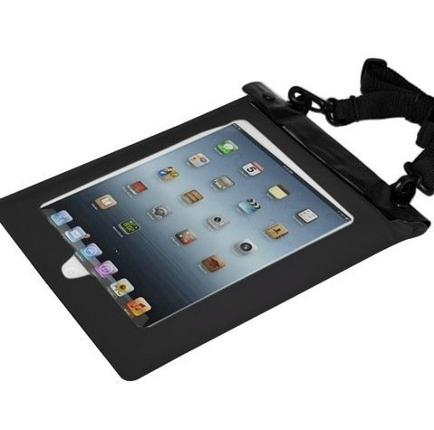 Axstyle 高品質 水深10M スタイリッシュ 防水ケース Waterproof case for iPad Air/iPad4/iPad3/iPad2 イヤフォンジャック付 ストラップ付属 2014モデル