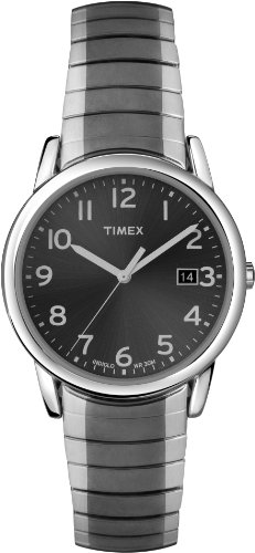 Timex Men's T2N949 Elevated Classics Dress Gray Dial Gun Metal Stainless Steel Expansion Band Watch