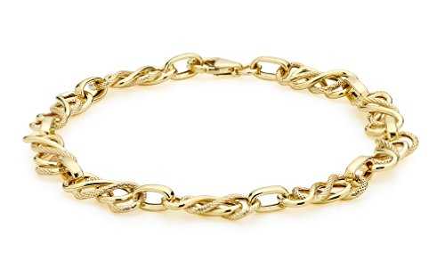 Carissima Gold 9 ct Yellow Gold Celtic Bracelet of 19 cm/7.5 inch