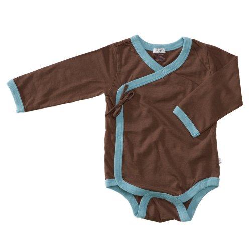 Babysoy Kimono Bodysuit – Chocolate – 12-18 months