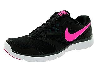 Nike Women's Flex Experience Rn 3 Black/Pink Pow/Clssc Chrcl/Wht Running Shoe 10 Women US