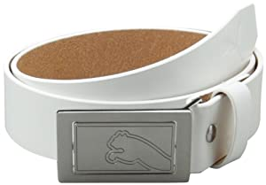 Puma Men's Flipside Fitted Belt, White, Medium