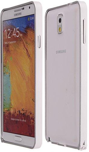 Boilfish,Samsung Galaxy Note3,Metal Aluminum Alloy Bumper Clasp Case,Silver
