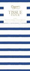 Caspari Tissue Set, Includes 4 Sheets, Bretagne Blue and White