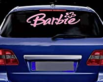 "BARBIE Giant 28"" long Vinyl STICKER / DECAL Candy Cotton Pink"